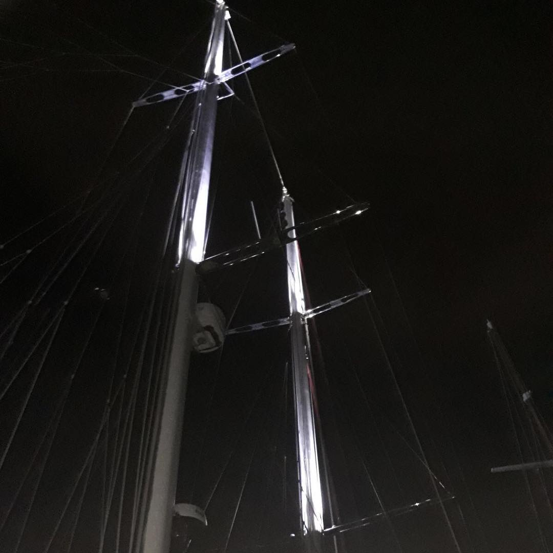 Masts in the spotlight
